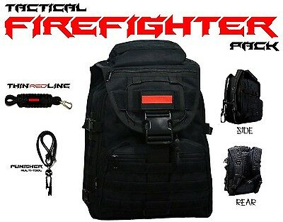 FIREFIGHTER Backpack Thin Red Line TRL On Duty Off Duty Bag - tURN ouT gEAR Pack