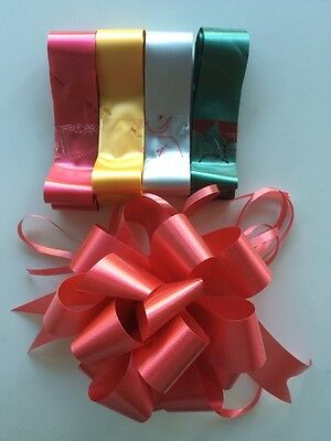 5x Florist Pull Bows 30mm - Mixed Colours Male Female Valentines Birthday