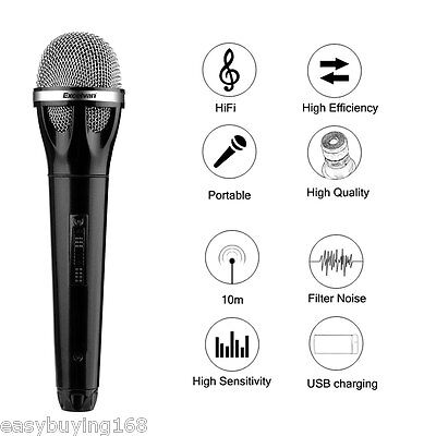 Professional Dynamic Bluetooth Wireless Handheld Microphone Mic for KTV Party