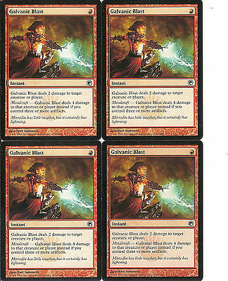 mtg Magic 4x Galvanic Blast ( Rafaga Galvanica ) English GOOD