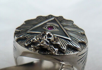 Illuminati ? Masonic ? . silver RING