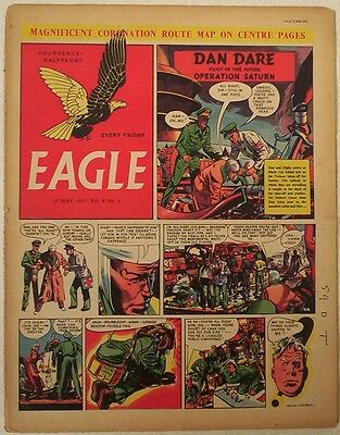 EAGLE Comic Vol.4 # 6. May 1953. Cutaway of the Queen's Coronation Route