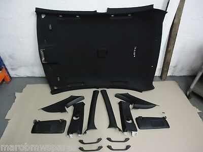 BMW E46 Compact - M Sport Black Complete Roof Lining Set Without Sunroof