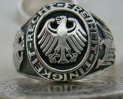 , GERMAN EAGLE RING   unity-right Freedom.