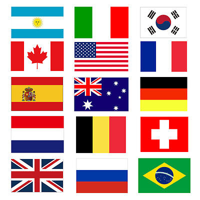 3'x5' FT World Country National Polyester USA Canada UK Germany Flags