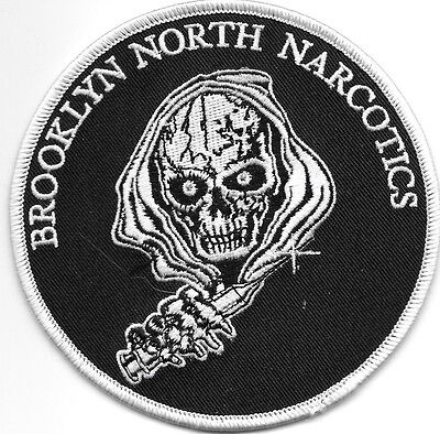 """Brooklyn North Narcotics, NY # 1 (4.25"""" round size) shoulder police patch (fire)"""