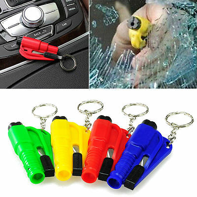 Portable Keychain Car Emergency Rescue Safety Glass Breaker Hammer Escape Tool ✿