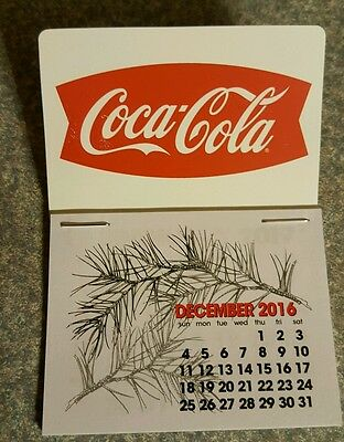 NEW 2017 Red fishtail  Coke dash calendar