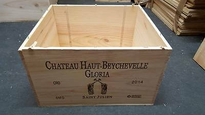 1 x MAGNUM FRENCH WOODEN WINE CRATE * BOX  PLANTER CHILDRENS DRAWERS STORAGE +