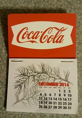 NEW 2017 white fishtail  Coke dash calendar