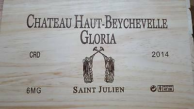 1 x CHATEAU GLORIA MAGNUM FRENCH WOODEN WINE CRATE BOX CHRISTMAS GIFT BOX IDEA