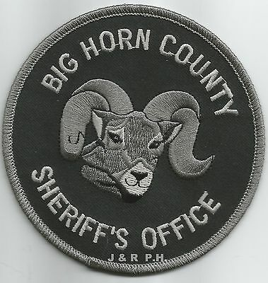 "Big Horn County Sheriff, MT (4"" round size) shoulder police patch (fire)"
