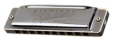 Fender® Midnight Special Diatonic 10 Hole Harmonica made by Seydel in Key of D