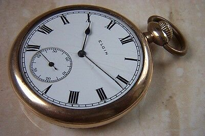 AN ELGIN POCKET WATCH WITH GOLD PLATED CASE c.1920