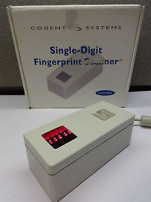 Cogent Systems CSD301 Fingerprint Scanner White Biometric Security