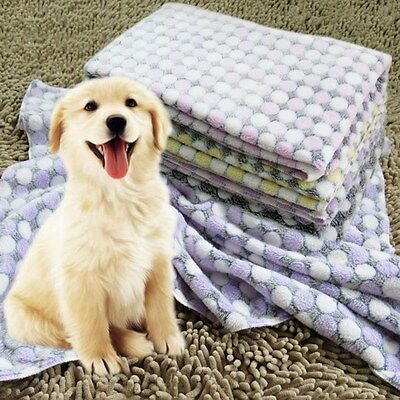 Pet Blanket Flannel Mat Dog Cat Sleeping Pad Cushion Warm Wraps Bed Seat Cover