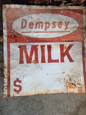 Original Dempsey Milk Sign 24x26
