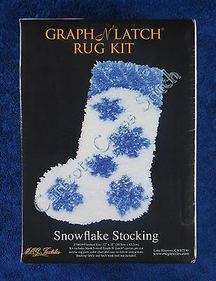 "Latch Hook Kit Christmas Snowflake Stocking Graph N' Latch MCG Textiles 12""x 17"""