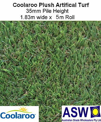 1.83m x 5m COOLAROO Artificial PLUSH SYNTHETIC TURF 35mm High Fake Grass
