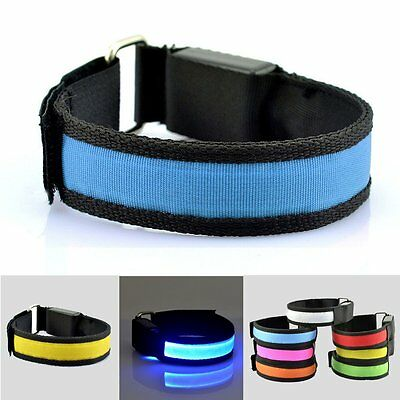 Bicycle Cycling Running LED Arm Leg Band Night Warning Safety Wristband Light