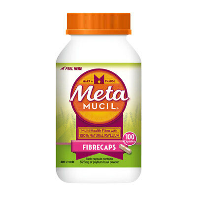 Metamucil Fibre Supplement Fibrecaps 100 Capsules Multi Health Fibre