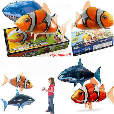 Air Swimmer Remote Control RC Flying Inflatable Fish SharkToy Blimp Balloon Gift