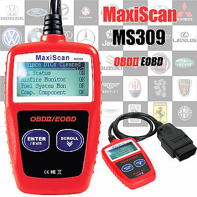 Car Fault Code Reader MaxiScan MS309 Engine Scanner CAN OBD2 Diagnostic Tool UK