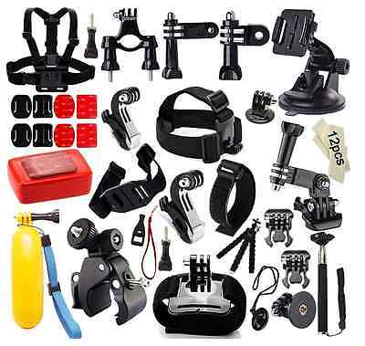 45 in 1 Accessories Kit Set for GoPro Hero Camera Photo Bundle