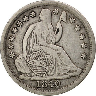 United States, Seated Liberty Half Dime, 1840, New Orleans, VF, KM:62.1