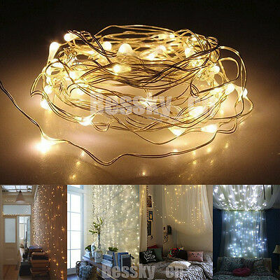 5M 50LED String Light Battery Operated Decor Xmas Fairy Lights Party Wedding