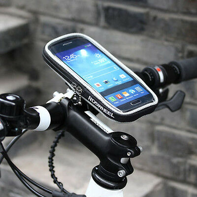 """Cycling Bike Bicycle Front Frame Tube Bag Phone Case Holder For 4.5"""" Smartphone"""