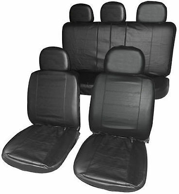 SKODA OCTAVIA 2008-2013 ESTATE Full Set Leather Look Front + Rear Seat Covers