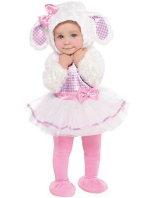 Girls Baby Toddler Cute Pink Xmas Little Lamb Sheep Outfit Fancy Dress Costume