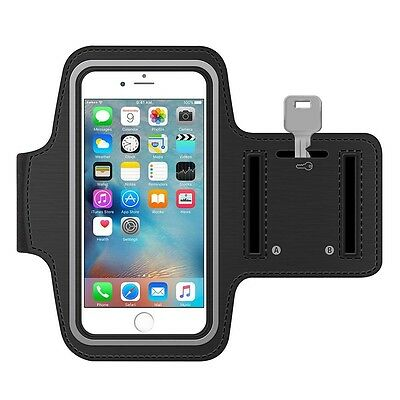 Black Armband for iPhone 6 Plus + Gym Exercise Running Sports Phone Case Cover