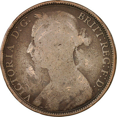 [#502704] Great Britain, Victoria, Penny, 1891, VG(8-10), Bronze, KM:755