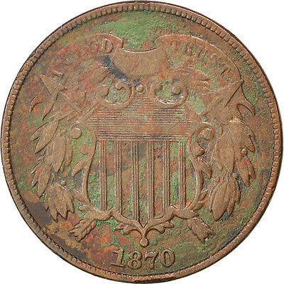 [#59606] UNITED STATES, 2 Cents, 1870, U.S. Mint, KM #94, EF(40-45)