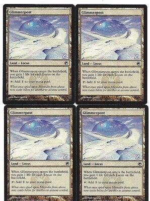 mtg Magic 4x Glimmerpost ( Atalaya resplandeciente ) English Excellent