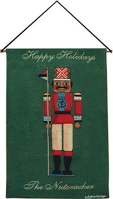 African American Nutcracker ~ Happy Holidays Tapestry Wall Hanging