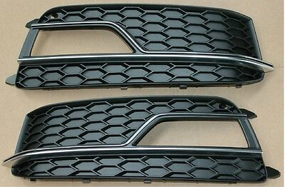 Audi S5 2013-2015 New Genuine Front Bumper Fog Light Grill Pair Left And Right