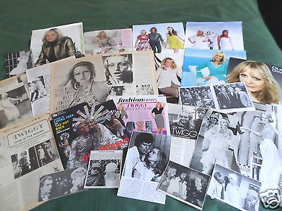 "Twiggy- Model/film Star -""clippings /cuttings Pack"""
