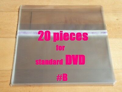 20 pieces Resealable Outer Plastic Sleeves for standard DVD  (type #B)