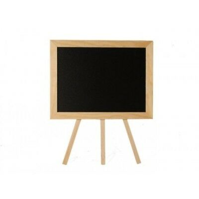 NEW 22x26cm Miniture Blackboard with a Wooden MDF Stand,For Cafe's & Events