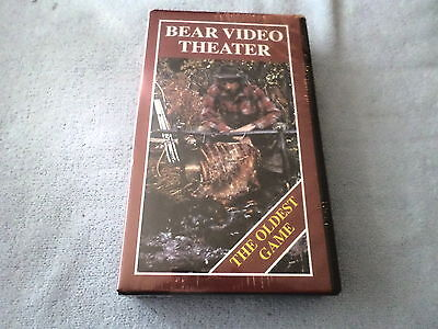 Bear Video Theater - The Oldest Game  (Vhs) - New - Bowhunting