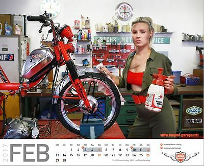 Moped Garage Mofa Moped Mokick Kalender 2017 Retro Rockabilly 50er Hercules