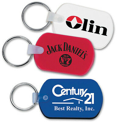 SOFT TOUCH KEY TAGS - 250 quantity - Custom Printed with Your Logo