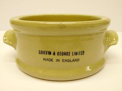 Vintage Griffin & George Laboratory Apothecary Two Handled Bowl (C)