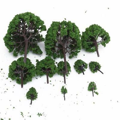 11pcs Green Model Tree Train Diorama Landscape Scale 1/50 O Scale