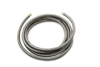 """braided, stainless steel, non reinforced oil hose line is 3/8"""" x 10'"""