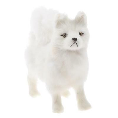 Realistic Dog Samoyed Plush Faux Fur Decor Puppy Collection Collectable S