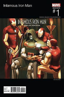 Infamous Iron Man #1 // Hip Hop Variant Now Cover 2016 // VF ^